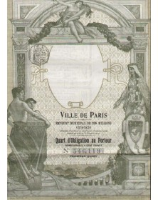 Ville de Paris - Emprunt Municipal 1910 de 235 millions