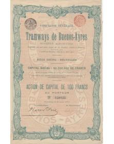 Cie Générale de Tramways de Buenos-Ayres