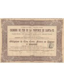 Cie Française des Chemins de Fer de la Province de Santa-Fé