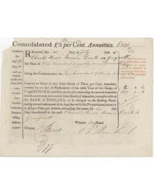 Consolidated 3% Annuities of 25th Year of the Reign of King George II