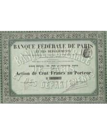 Banque Fédérale de Paris et des Départements