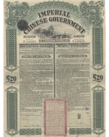 Imperial Chinese Government - Emprunt Impérial Chinois - Emprunt Or 1908. 20£