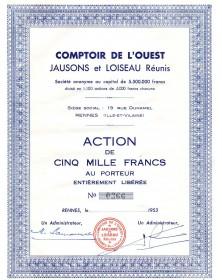 Comptoir de l'Ouest - Jausons et Loiseau Réunis