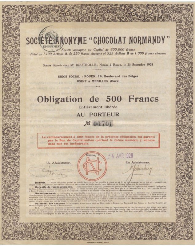 "S.A. ""Chocolat Normandy"""