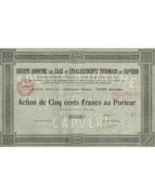 S.A. des Eaux et Ets Thermaux de Capvern - Midi-Pyrénées/Hautes-Pyrénées 65