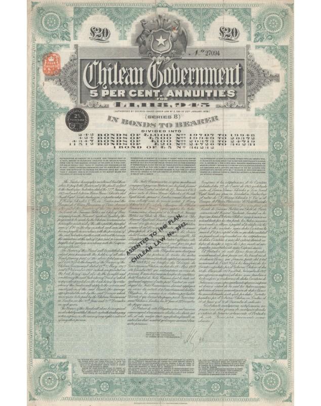 Chilean Government 5% Bond