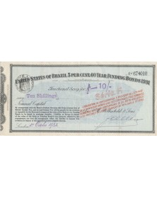United States of Brazil - 5% Loan Funding Bonds 1931