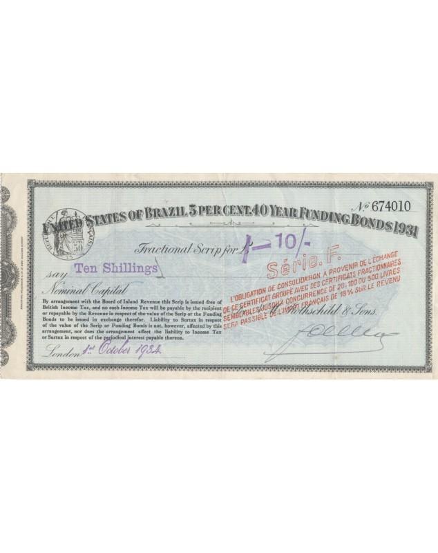 United States of Brazil - 5% Loan Funding Bonds 1931