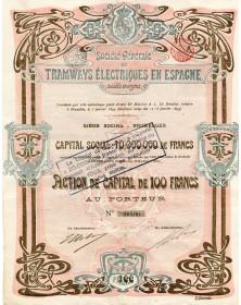 Tramways Electriques en Espagne