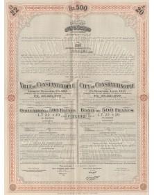 Ville de Constantinople - Emprunt Municipal 5% 1913