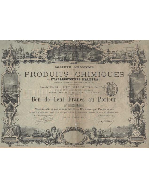 S.A. de Produits Chimiques - Etablissements Malétra