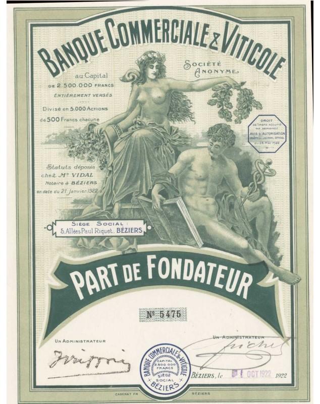 Banque Commerciale & Viticole Béziers