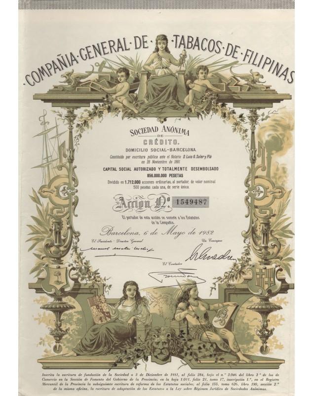 Cia General de Tabacos de Filipinas, S.A. de Crédito. 1982