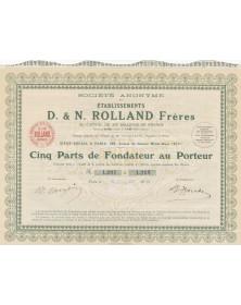S.A. des Etablissements D. & N. Rolland Frères