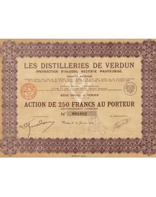 Les Distilleries de Verdun. Production d'Alcool Rectifié Pasteurisé