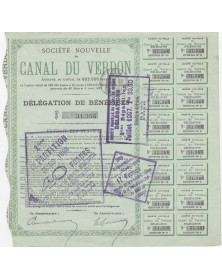 Sté Nouvelle du Canal du Verdon. 1897