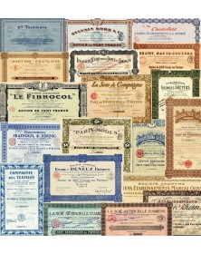 Lot of 20 bonds and shares about the Textile and Fashion Industry
