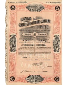 El Callao General Gold Mining Company Ltd. 1906 (titre de 5 actions)