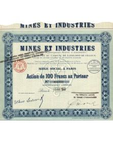 Mines et Industries, Société Française de Participations Minières et Industrielles