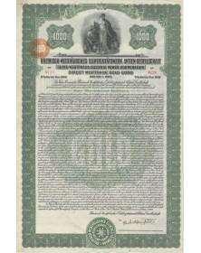Rheinisch-Westfälisches Elektrizitätswerk Aktien-Gesellschaft. Rhine-Westphalia Electric Power Corp.. Direct Mortgage Gold Bond