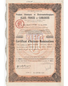 Cie de Produits Chimiques Alais, Froges & Camargue (Henry Merle, Péchiney)