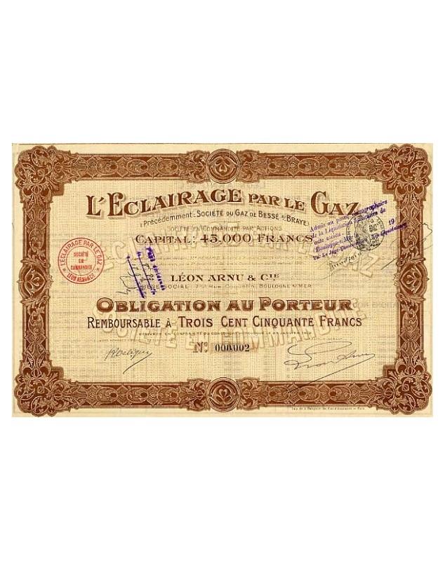 L'Eclairage par le Gaz. Léon Arnu & Cie