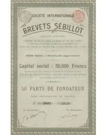 Sté Internationale des Brevets Sébillot