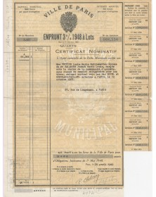 City of Paris - 3% Municipal Loan 1948