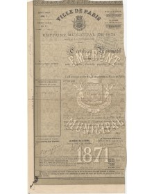 City of Paris - Municipal Loan 1871