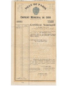City of Paris - Municipal Loan 1898