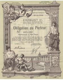 Département de la Seine - Emprunt 4% 1930