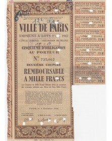City of Paris - 3,5% Municipal Loan 1942 (cancelled)