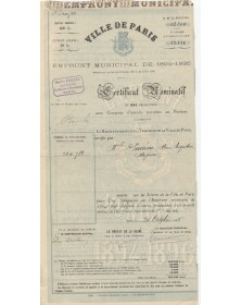 City of Paris - Municipal Loan 1894-1895
