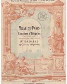 Ville de Paris - Emprunt Municipal de 1919 (1500 Millions)