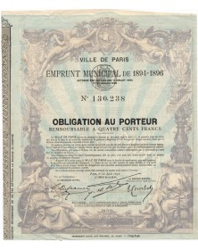 City of Paris - Municipal Loan 1894-1896