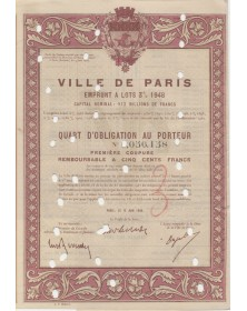 City of  Paris - 3% Loan 1948 (cancelled)