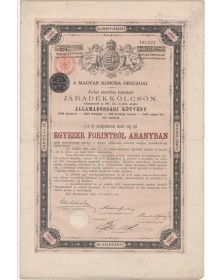 Kingdom of Hungary - 4% Gold Bond 1893, 1000 Fl