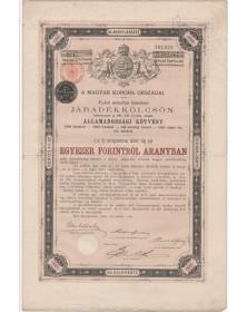 Royaume de Hongrie - Emprunt 4% Or 1893, 1000 Fl