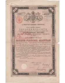 Royaume de Hongrie - Emprunt 4% Or 1888, 1000 Fl