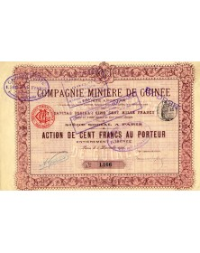 Cie Minière de Guinée 1906