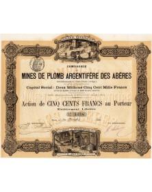 Cie des Mines de Plomb Argentifère des Abères, St-Girons