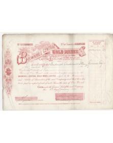 Brownhill Central Gold Mines Ltd. Australia