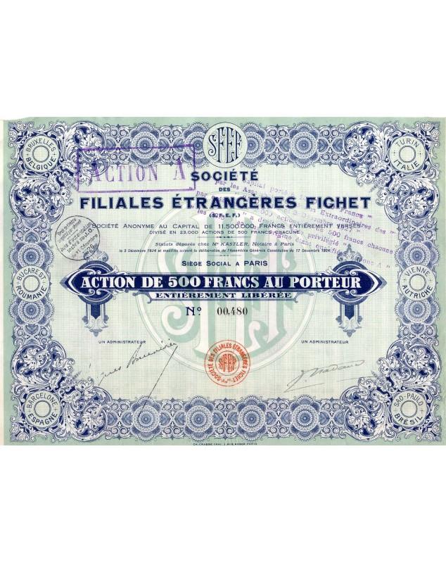 Société des Filiales Etrangères Fichet (Foreign Subsidiaries)