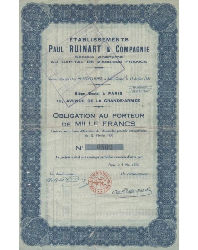 Ets Paul Ruinart & Cie (Champagne)