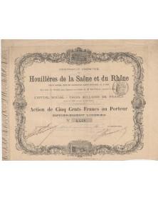 Cie Anonyme des Houillères de la Saône et du Rhône