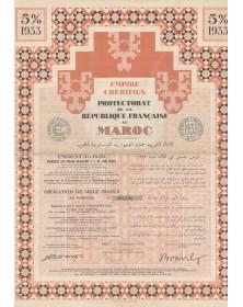 Empire Chérifien, Protectorat de la République Française au Maroc - Emprunt garanti 5% 1933