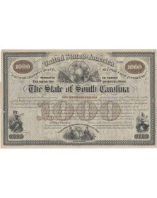 The State of South Carolina - 6% Consolidated Bond 1874. 1000$