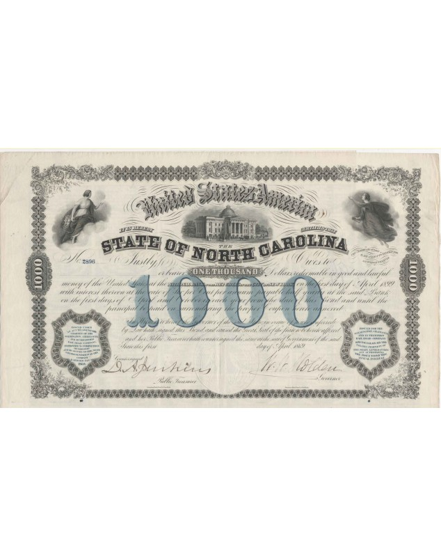 State of North Carolina - 1000$ 6% Bond