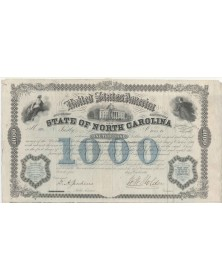 State of North Carolina - 1000$ 6% Bond 1968