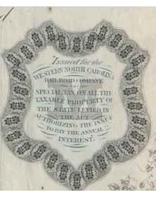 State of North Carolina - 1000$ 6% Bond 1968 (Western Carolina Railroad Company)